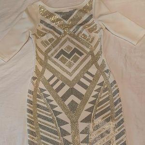 White sparkle dress!
